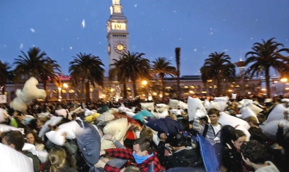 pillow fight SF