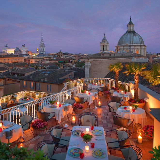 Hotel Raphael terrace