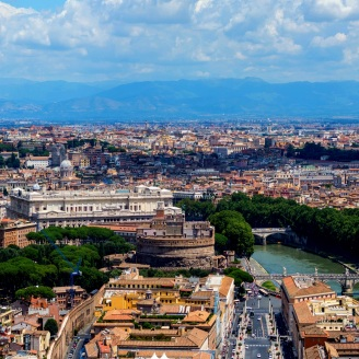 rome aerial view copter color