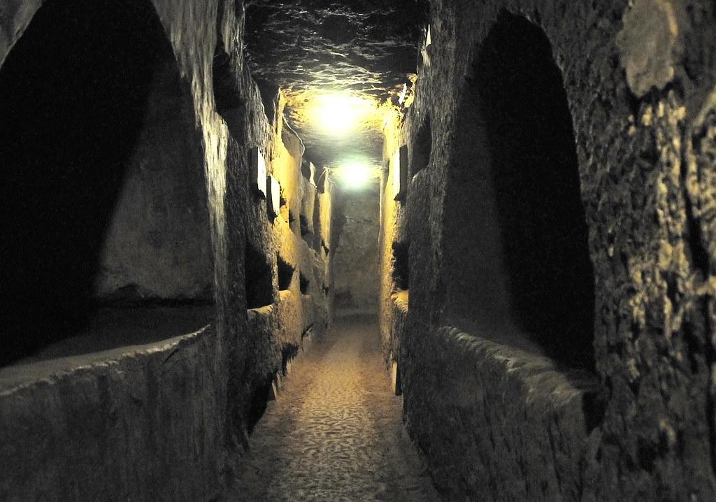 the Domatilla Catacombs