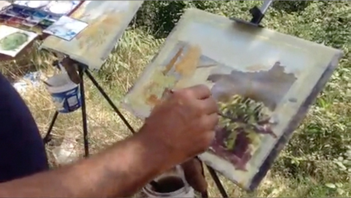 Painting in Barcelona