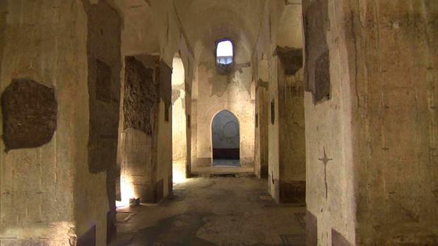 rome ruins below termini station